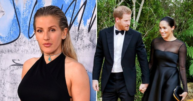 Ellie Goulding Prince Harry and Meghan Markle