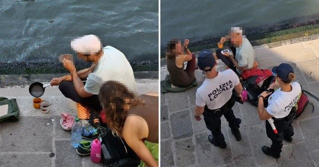 Tourists fined and ordered to leave Venice after making coffee on the steps of famous bridge