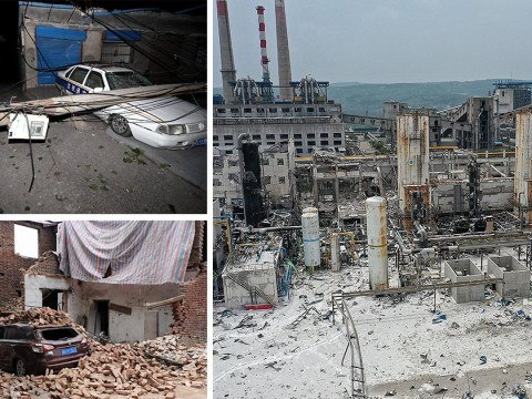 Chinese gas plant in ruins after devastating explosion leaves two dead