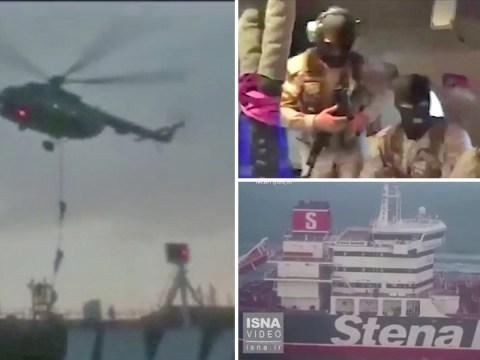 Moment balaclava-clad Iran commandos storm British tanker