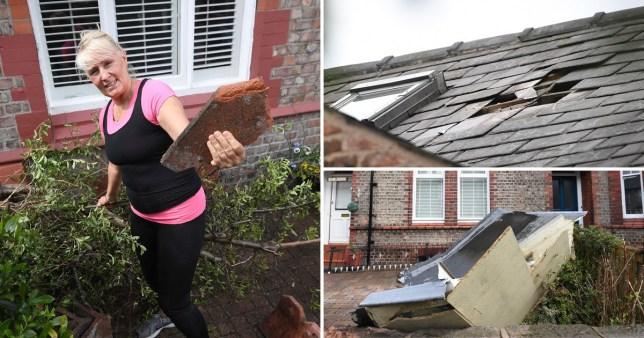 Nicola Sloan-Graham heard an 'almighty bang' when the tornado hit her home. Manchester tornado