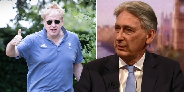 Philip Hammond will resign if Boris Johnson becomes the next prime minister (Picture: Reuters; LNP)