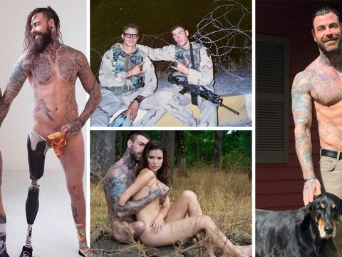 Military veteran becomes a tattoo model after losing a limb the day after he returned from war