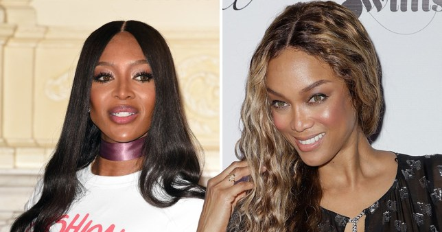 Naomi Campbell and Tyra Banks