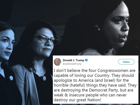 Trump says congresswomen he posted racist tweets about should apologise to the US