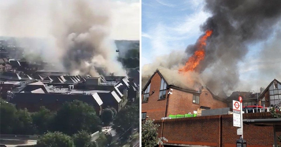 Walthamstow fire breaks out at The Mall shopping centre in London