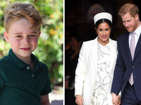 Prince Harry and Meghan Markle wish Prince George 'lots of love' on his birthday