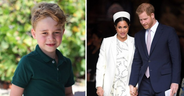 Meghan and Harry wished George a happy birthday (Picture: PA)