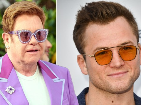 Taron Egerton channels inner Rocketman for Elton John AIDS Foundation party