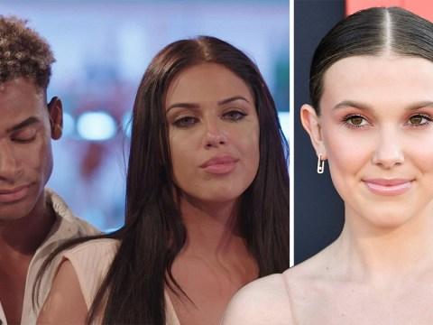 Millie Bobby Brown 'quaking' over Love Island's Anna Vakili and Jordan Hames' explosive split