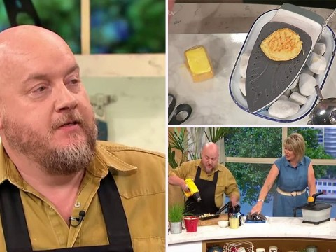 Comedian uses iron and wallpaper stripper to cook breakfast and This Morning viewers are having none of it