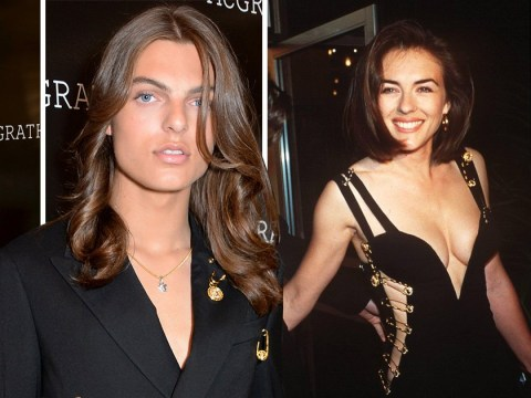 Damian Hurley, 17, pays homage to mum Liz's iconic safety pin dress 25 years on