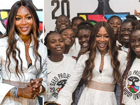 Naomi Campbell is girl power goals as she helps launch basketball forum in Senegal