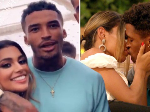 Love Island's Joanna Chimonides and Michael Griffiths 'back on as they're caught kissing' at festival