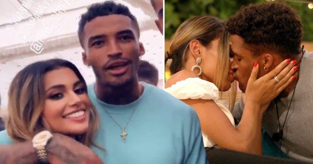 Love Island Michael Griffiths and Joanna Chimonides