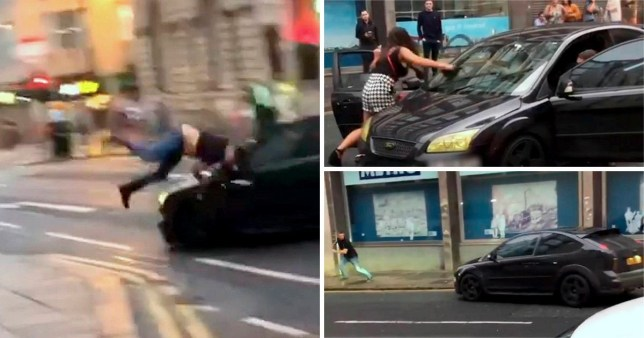 Shocking footage of a car being deliberately driven into a man in Newcastle has gone viral (Picture: North News)