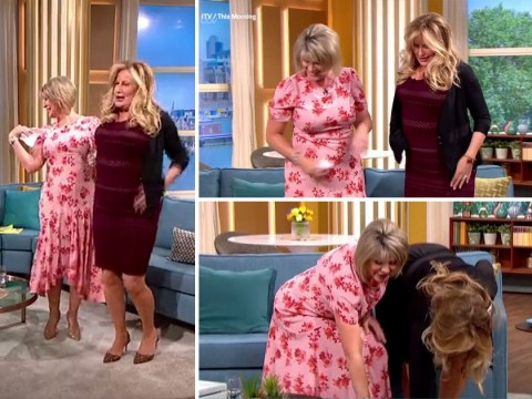 Legally Blonde's Jennifer Coolidge tries and fails at teaching Ruth Langsford to bend and snap