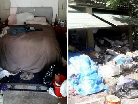 Desperate couple who lived in garage evicted by council