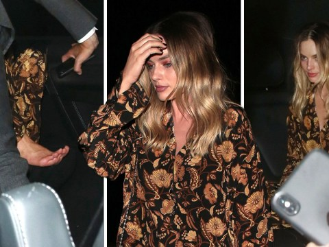 Margot Robbie is still a woman who can't wait to kick off her heels as she 'leaves party at 3.30am'
