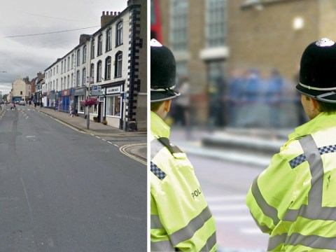 Three people stabbed as attacker rampages through market town