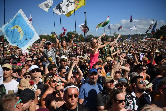 The crowd at the Glastonbury Festival 2019