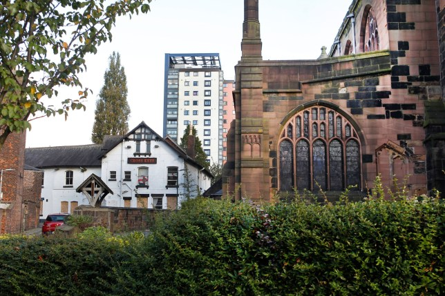 A man has been arrested after a 17-year-old boy was raped in a church graveyard. The horrific incident happened in the grounds of Eccles Parish Church in Eccles, Greater Manchester, on June 22. Caption: General view of Eccles Parish Church on Church Road in Eccles, Greater Manchester, taken in October 2016