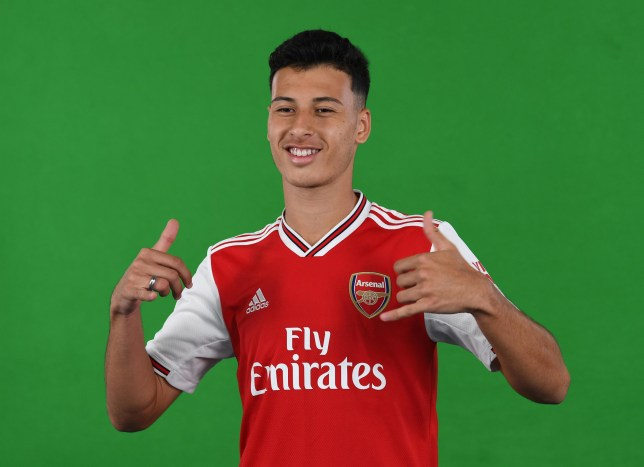 ST ALBANS, ENGLAND - JULY 02: Arsenal's latest signing Gabriel Martinelli at London Colney on July 02, 2019 in St Albans, England. (Photo by David Price/Arsenal FC via Getty Images)