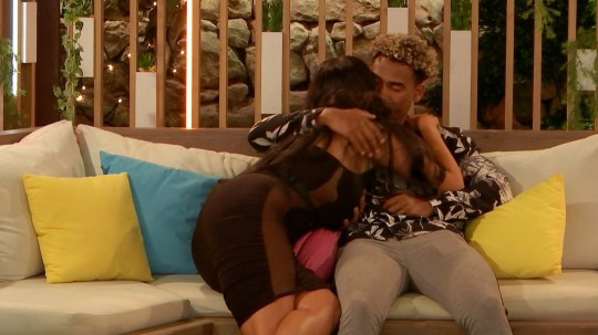 From ITV Studios Love Island: SR5: Ep27 on ITV2 Pictured: Anna and Jordan chat and hug. This photograph is (C) ITV Plc and can only be reproduced for editorial purposes directly in connection with the programme or event mentioned above, or ITV plc. Once made available by ITV plc Picture Desk, this photograph can be reproduced once only up until the transmission [TX] date and no reproduction fee will be charged. Any subsequent usage may incur a fee. This photograph must not be manipulated [excluding basic cropping] in a manner which alters the visual appearance of the person photographed deemed detrimental or inappropriate by ITV plc Picture Desk. This photograph must not be syndicated to any other company, publication or website, or permanently archived, without the express written permission of ITV Picture Desk. Full Terms and conditions are available on the website www.itv.com/presscentre/itvpictures/terms For further information please contact: james.hilder@itv.com / 0207 157 3052