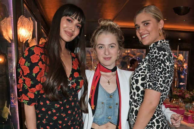 LONDON, ENGLAND - JULY 03: (L to R) Zara Martin, Anais Gallagher and Tigerlily Taylor attend the Very.co.uk 10th Anniversary dinner at Scott's on July 3, 2019 in London, England. (Photo by David M. Benett/Dave Benett/Getty Images)