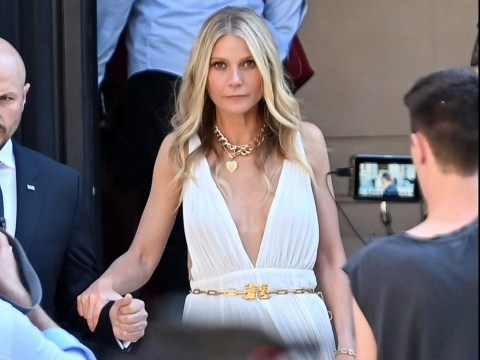 Gwyneth Paltrow serves classical goddess energy at Valentino Haute Couture fashion show