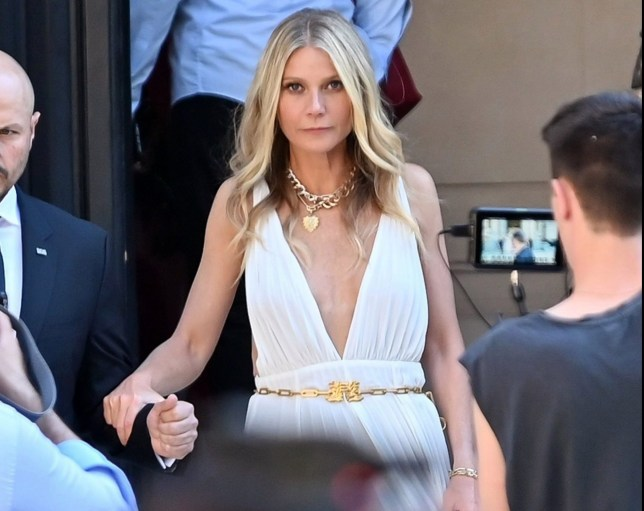 BGUK_1644929 - ** RIGHTS: ONLY UNITED KINGDOM ** Paris, FRANCE - Celebrities at the Valentino Haute-Couture A/W 2019/2020 show as part of Paris Fashion Week Pictured: Gwyneth Paltrow BACKGRID UK 7 MARCH 2019 BYLINE MUST READ: BEST IMAGE / BACKGRID UK: +44 208 344 2007 / uksales@backgrid.com USA: +1 310 798 9111 / usasales@backgrid.com *UK Clients - Pictures Containing Children Please Pixelate Face Prior To Publication*