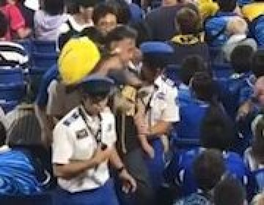 Man uses son as a weapon at Japan baseball match