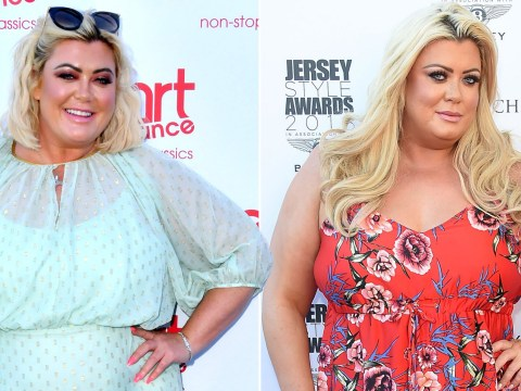 Gemma Collins takes workout to next level as she leg presses male friend on boat