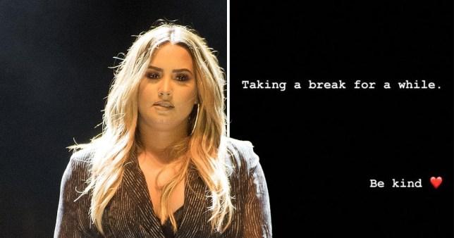 Demi Lovato taking a break from social media