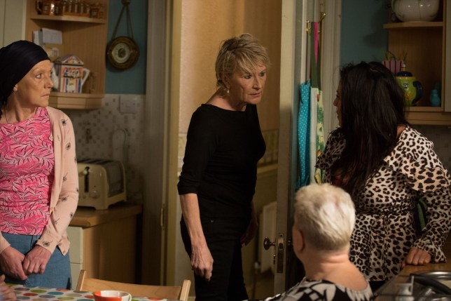 CAPTION: With Phil growing ever suspicious that the Slaters have his stolen money, Shirley agrees to do some digging and it doesn???t take her long to realise the truth ??? Kat lied to Phil, she had the money all along. Desperate to protect Jean, Shirley takes control and demands the money back from the Slaters for their own sake ??? but will they hand over the money or will they face Phil???s wrath? This episode airs on Friday 19th July.