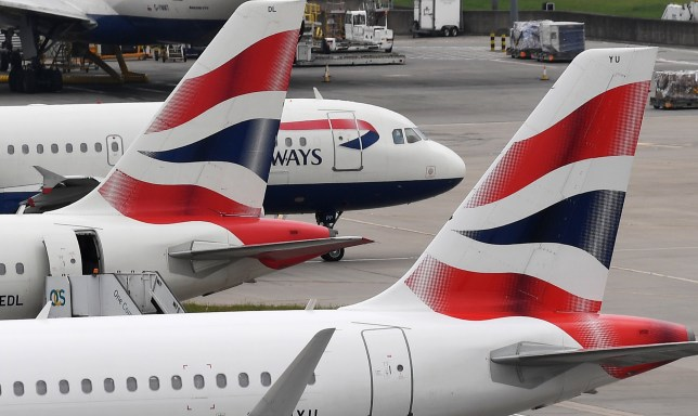 epa07702724 (FILE) - British Airways aircraft stand on their parking positions at Heathrow Airport in London, Britain, 29 May 2017, (reissued 08 July 2019). Media reports on 08 July 2019 state that British Airways is set to be fined more than 183 million GBP by the British Information Commissioner's Office over a customer data breach, the equivalent of 1.5 percent of the airline's global turnover for the financial year ending 31 December 2019. The fine is over the theft of customers' personal and financial information between 21 August 2018 and 05 September 2018. EPA/ANDY RAIN *** Local Caption *** 54850335