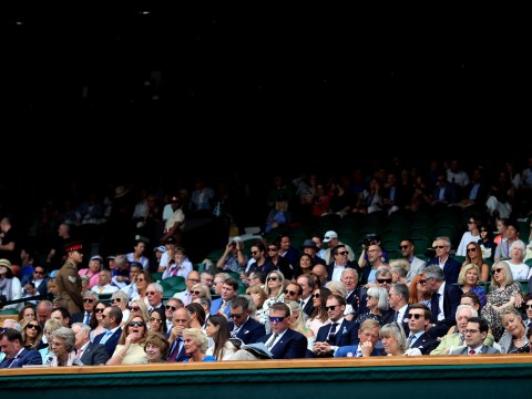 Who is in the royal box at Wimbledon today for the women's final?