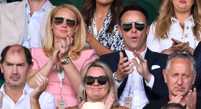 Ant McPartlin and Anne-Marie Corbett at Wimbledon