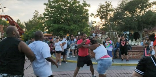 A Disneyland guest recorded a brawl that broke out between a family at Disneyland in Toontownon on July 6, 2019.