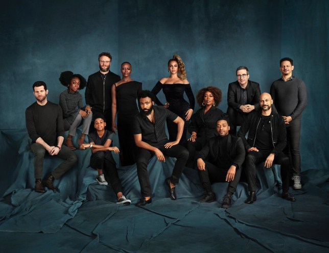 The Lion King cast including Beyonce and Donald Glover