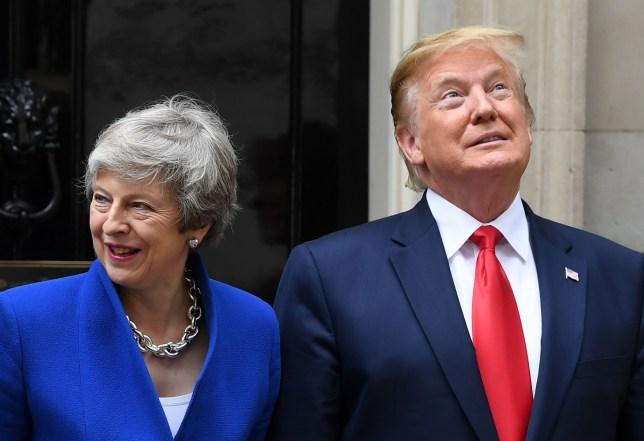 Prime Minister Theresa May and US President Donald Trump at No.10 Downing Street US President Donald Trump state visit to London, UK - 04 Jun 2019