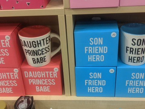 Clintons criticised for mugs saying girls are 'princesses' and boys are 'heroes'
