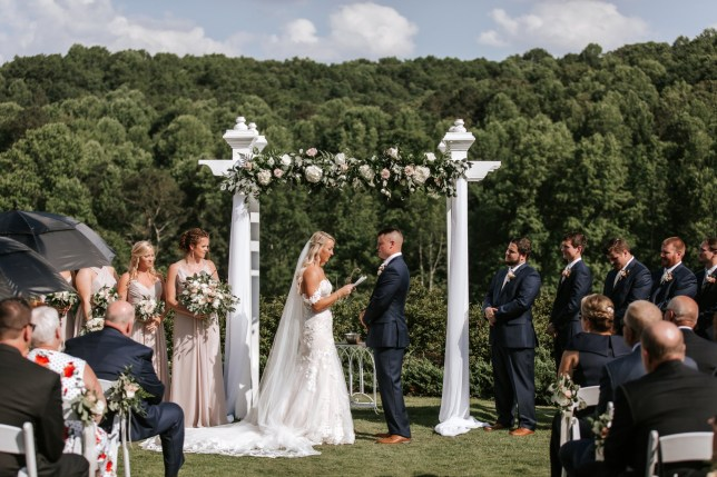 Aaron and Maggie Mimms on their wedding day -
