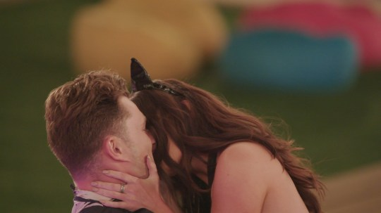 From ITV Studios Love Island: SR5: Ep33 on ITV2 Pictured: Curtis and Maura kiss during the challenge. This photograph is (C) ITV Plc and can only be reproduced for editorial purposes directly in connection with the programme or event mentioned above, or ITV plc. Once made available by ITV plc Picture Desk, this photograph can be reproduced once only up until the transmission [TX] date and no reproduction fee will be charged. Any subsequent usage may incur a fee. This photograph must not be manipulated [excluding basic cropping] in a manner which alters the visual appearance of the person photographed deemed detrimental or inappropriate by ITV plc Picture Desk. This photograph must not be syndicated to any other company, publication or website, or permanently archived, without the express written permission of ITV Picture Desk. Full Terms and conditions are available on the website www.itv.com/presscentre/itvpictures/terms For further information please contact: james.hilder@itv.com / 0207 157 3052
