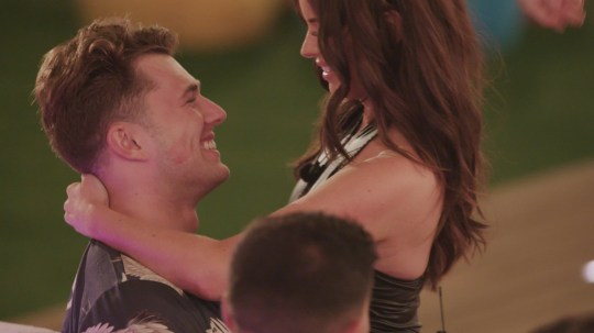 From ITV Studios Love Island: SR5: Ep33 on ITV2 Pictured: Curtis and Maura during the challenge. This photograph is (C) ITV Plc and can only be reproduced for editorial purposes directly in connection with the programme or event mentioned above, or ITV plc. Once made available by ITV plc Picture Desk, this photograph can be reproduced once only up until the transmission [TX] date and no reproduction fee will be charged. Any subsequent usage may incur a fee. This photograph must not be manipulated [excluding basic cropping] in a manner which alters the visual appearance of the person photographed deemed detrimental or inappropriate by ITV plc Picture Desk. This photograph must not be syndicated to any other company, publication or website, or permanently archived, without the express written permission of ITV Picture Desk. Full Terms and conditions are available on the website www.itv.com/presscentre/itvpictures/terms For further information please contact: james.hilder@itv.com / 0207 157 3052