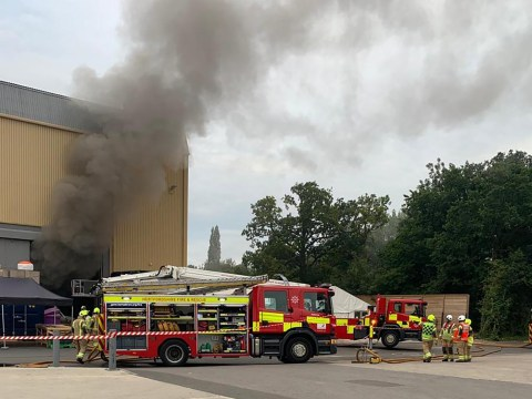 Huge fire at Warner Bros studios where Harry Potter films were made