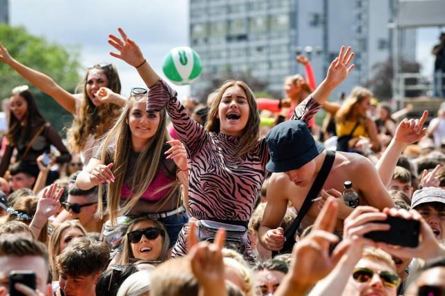 Music fans at Glasgow's TRNSMT Festival