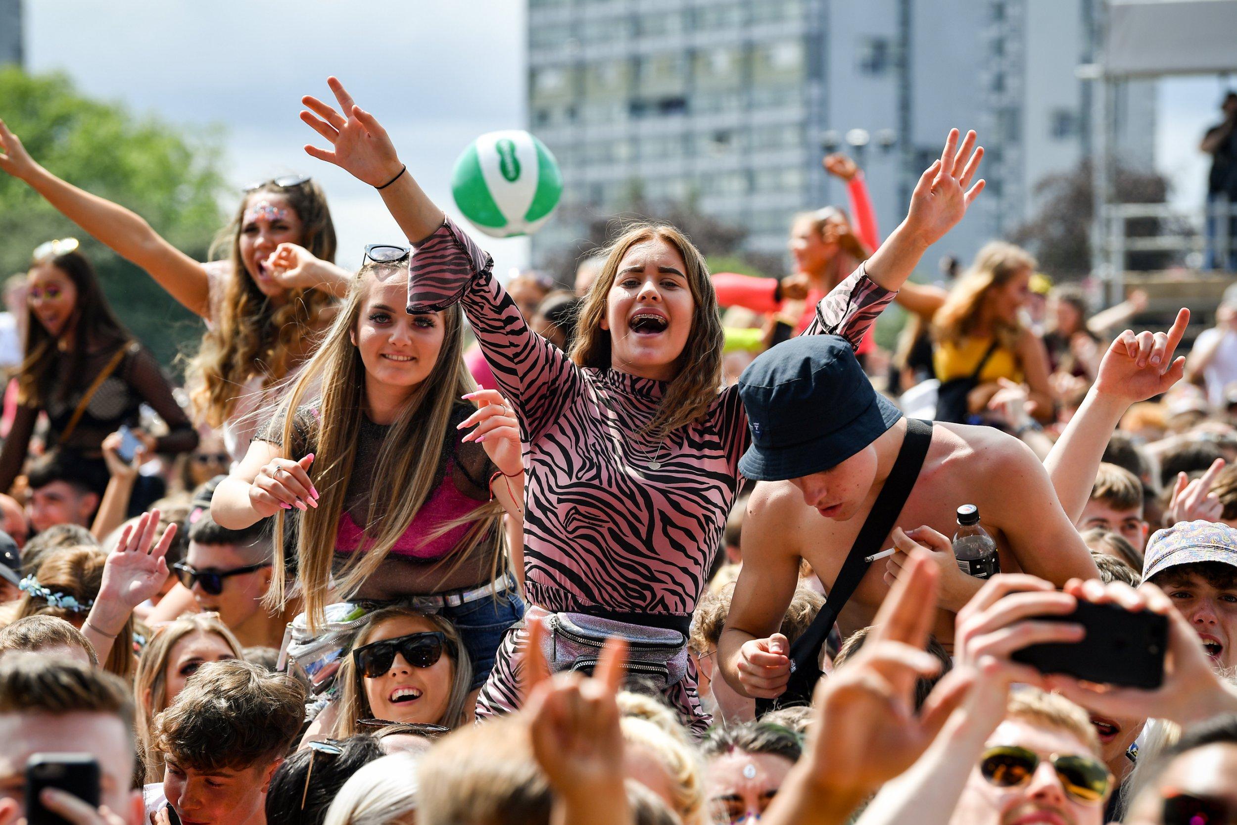 Music fans during Glasgow's TRNSMT Festival