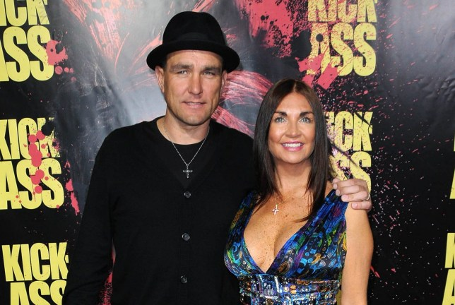 Vinnie Jones and wife Tanya Jones during the 'Kick Ass' premiere held at the ArcLight Cinemas, Los Angeles