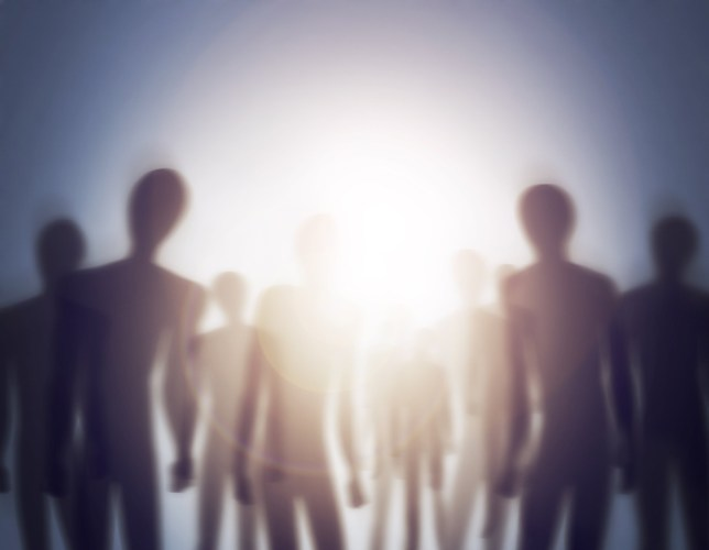 Conceptual image of a group of aliens
